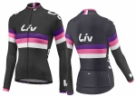 Dres LIV RACE DAY LS JERSEY Black/purple/hot pink